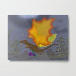 Autumn Otter Dragon Metal Print