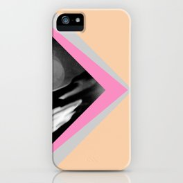Peachy with Blue Triangles iPhone Case
