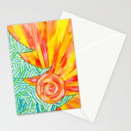 Unusual new year card in Doodle technique Stationery Cards