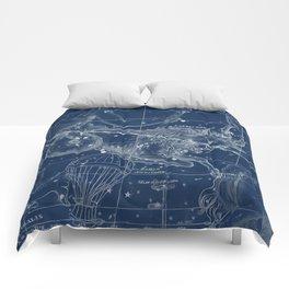 Capricorn sky star map Comforters