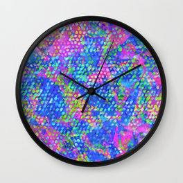 Floral Abstract Stained Glass G549 Wall Clock
