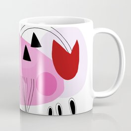 Abstract Shapes Pink Coffee Mug