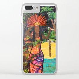 Tahitian Goddess original painting by Barbara Sayre Clear iPhone Case