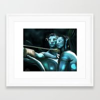 avatar Framed Art Prints featuring Avatar by Dano77