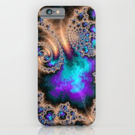 Electric Ocean - Fractal Art iPhone Case