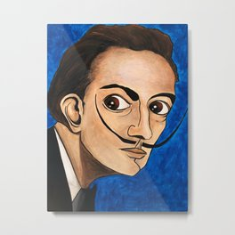 Salvador Dalí portrait Metal Print