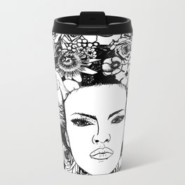"""PHOENIX AND THE FLOWER GIRL """"STEP BY STEP MOVING"""" SINGLE PRINT Metal Travel Mug"""