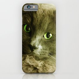 Wake up! Time to feed the Cat! iPhone Case
