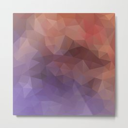 Triangles design in purple and brown colors Metal Print