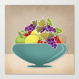 Picture . A bowl of fruit. Canvas Print