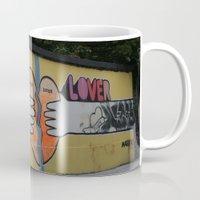 dublin Mugs featuring WALL DUBLIN by John Morris