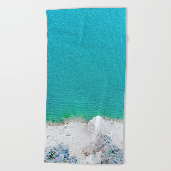 Blue from the top 2 Beach Towel