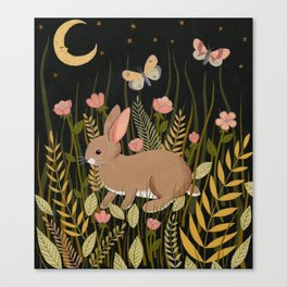 midnight rabbit Canvas Print