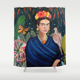 Frida et sa nature vivante Shower Curtain