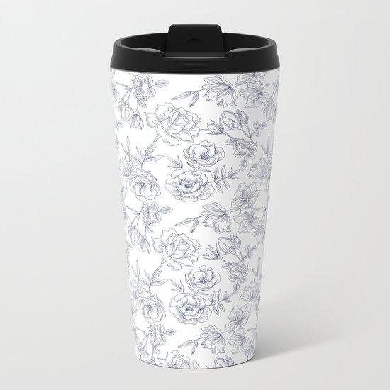 LITTLE FLOWERS Metal Travel Mug