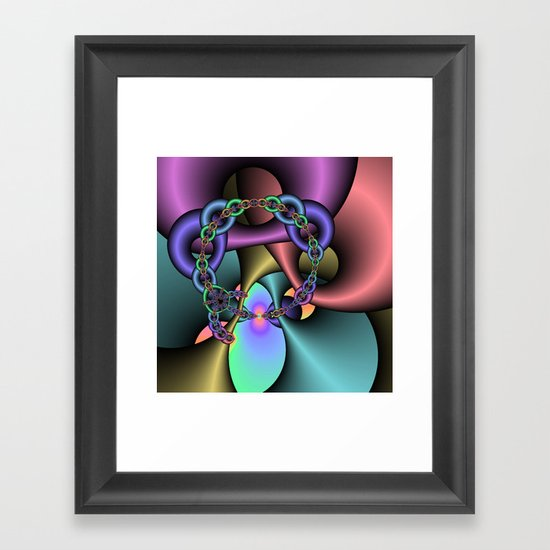 Chained to Your Sweetness Framed Art Print