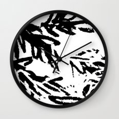 naturally, black and white/ part I Wall Clock