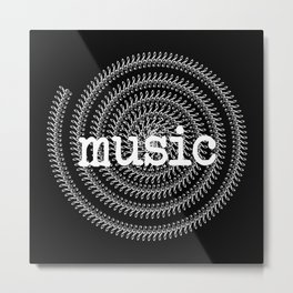 Sol keys and music - inverted Metal Print