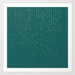 scorpio zodiac sign pattern tw Art Print