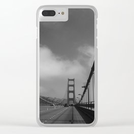 On The Golden Gate Bridge Clear iPhone Case