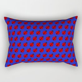 Ladybugs Pattern-Dark Blue Rectangular Pillow