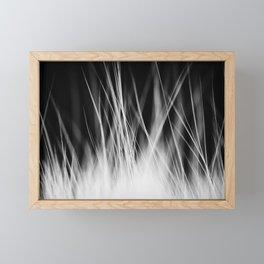 White Static Framed Mini Art Print