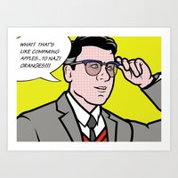 lichtenstein Art Prints featuring Cyril Lichtenstein by turantuluy
