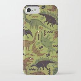 Camouflage Dinosaur Geometric Pattern iPhone Case