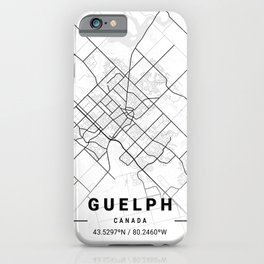 Guelph Light City Map iPhone Case