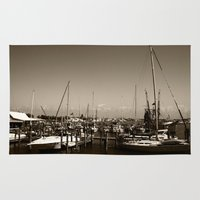 salt water Area & Throw Rugs featuring Salt water sound  by Sandiest Photography