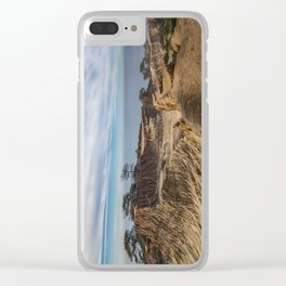 Mid-morning at Broken Hill Trail, Torrey Pines State Park, San Diego, California Clear iPhone Case