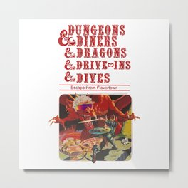 dungeons and dragons red Metal Print