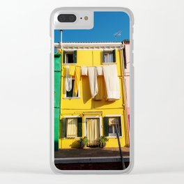Beautiful Burano Italy Clear iPhone Case