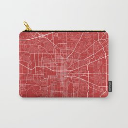 Tallahassee Map, USA - Red Carry-All Pouch