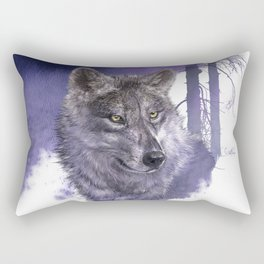 Wolf Forest Guardian Rectangular Pillow