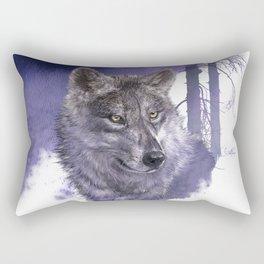 Wolf Forest Guardian Rectangular Pillow