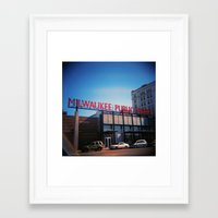 milwaukee Framed Art Prints featuring Milwaukee by Eric Wilcox / let it unwind