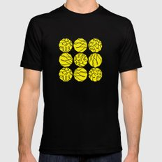 Yellow MEDIUM Black Mens Fitted Tee