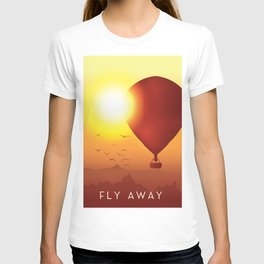 Fly Away on a Balloon T-shirt