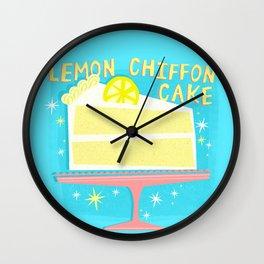 All American Classic Lemon Chiffon Cake Wall Clock