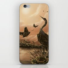 Crane and moth  iPhone & iPod Skin