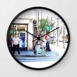 street life Wall Clock