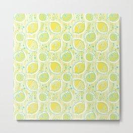 Atomic Lemonade_Green and Cerulean Metal Print