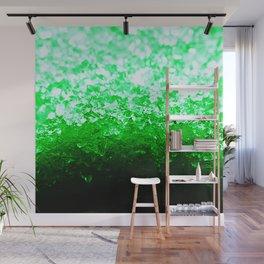 Emerald Green Ombre Crystals Wall Mural
