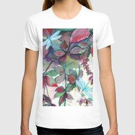 Virginia Creeper Dragonflies T-shirt