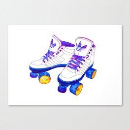 Roller Derby skaters Canvas Print