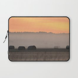 Hay Bales in the Morning Laptop Sleeve