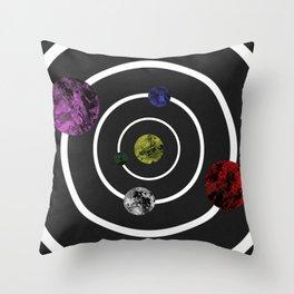 Orbits Of Colour Throw Pillow