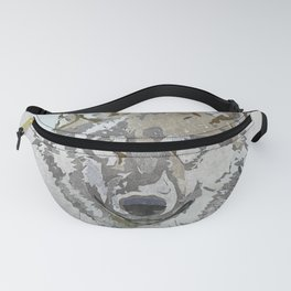 Wolf Head Illustration Fanny Pack
