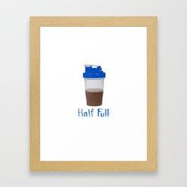 Half Full Framed Art Print